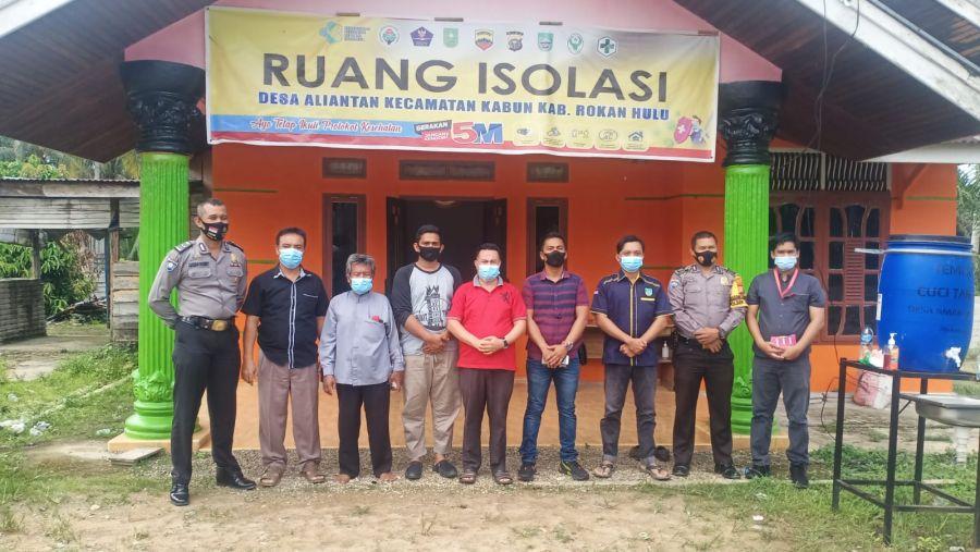 Batalyon V 3T Polda Riau Berkunjung Ke Polsek Kabun