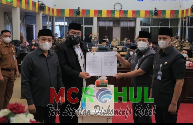 DPRD Rohul Gelar Rapat Paripurna Penyampaian KUPA & PPAS Tahun 2021