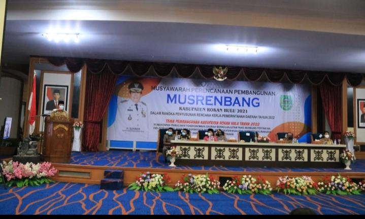 Gelar Musrenbang, Bupati Rohul: Meski Pandemi Covid-19 Pertumbuhan Ekonomi Rohul Meningkat