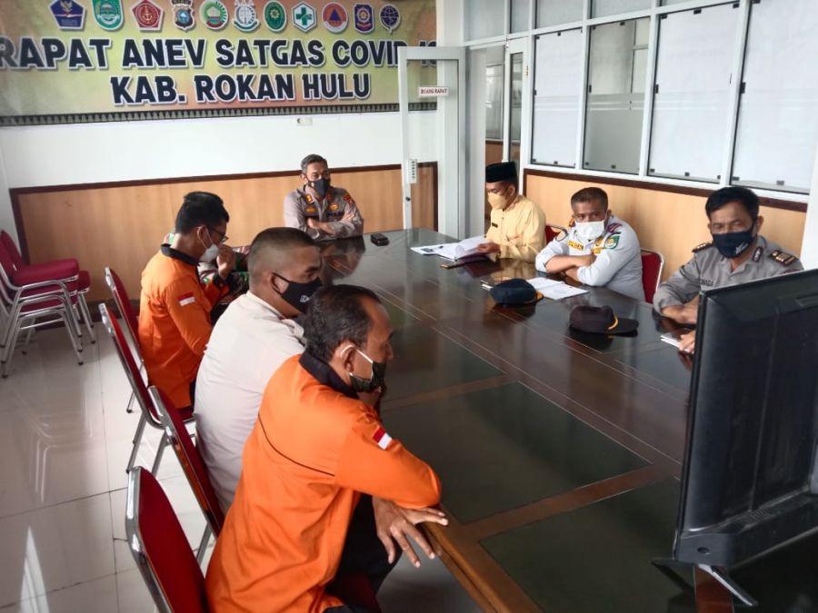 Gelar Rapat Anev, Kapolres Rohul Ajak Warga Yang Terkonfirmasi Covid-19 Segera Di Rawat