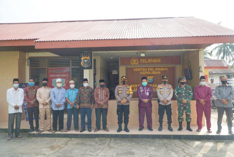 Kapolres Rohul Gelar Silaturahmi Dengan Forkopincam Dan Jajaran Polsek Rokan IV Koto