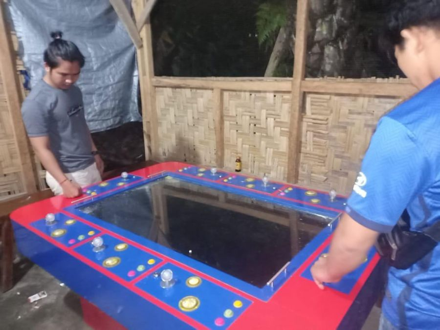 Polres Rohul Amankan 2 Unit Meja Gelper Judi Ikan-Ikan