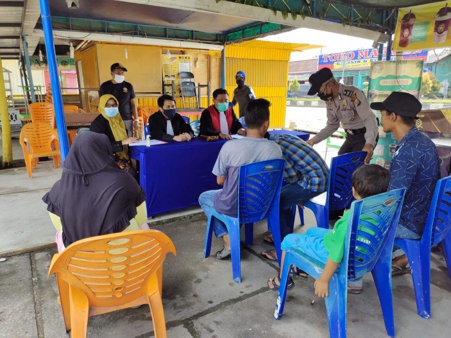 Polres Rohul Gelar Kegiatan Yustisi Di Kecamatan Ujung Batu