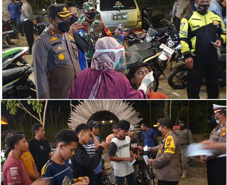 Polres Rohul Melaksanakan Kegiatan Yustisi Didua Lokasi Yang Berbeda