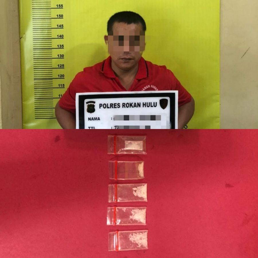 Polres Rokan Hulu Meringkus Pelaku Tindak Pidana Narkoba Jenis Shabu