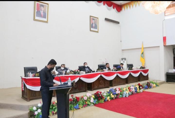 Rapat Penyampaian Hasil Reses Pimpinan & Anggota DPRD Rohul Masa Persidangan Ke III Tahun 2021