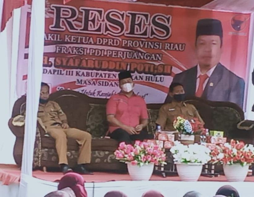 Reses Masa Sidang II H. Syafaruddin Poti  Jemput Aspirasi Masyarakat Rohul