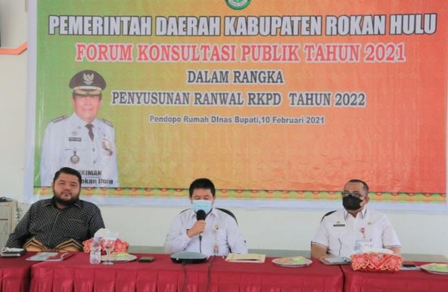Sekda Rohul H. Abdul Haris S.Sos M.Si Secara Resmi Buka FKP Tahun 2021