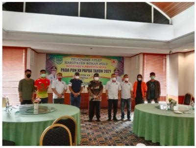 Bupati H.Sukiman Hadiri Pelepasan 5 Atlet Asal Rohul Mengikuti PON XX 2021