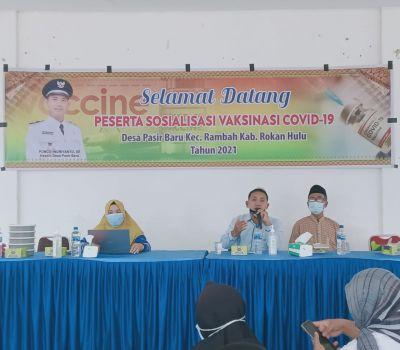 Desa Pasir Baru Gelar Kegiatan Sosialisasi Vaksin Covid-19 Tahun 2021