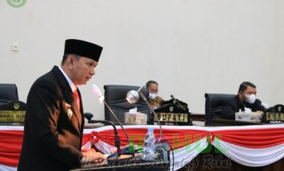 Gelar Rapat Paripurna, Wabup Berharap KUA PPKS TA 2022 Disepakati Pemda & DPRD Rohul