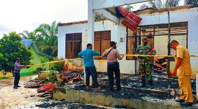 Kantor Kepala Desa Sei Salak Ludes Terbakar