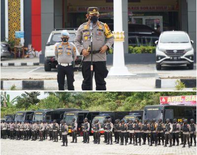 Kapolres Rohul Sambut Kedatangan Personil BKO Brimob Polda Riau