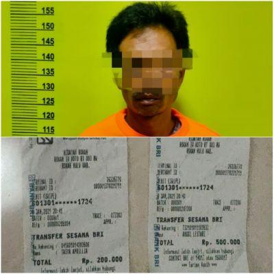 Tim Opsnal Polres Rohul, Mengamankan Satu Orang Terduga TP Perjudian